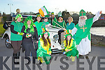 Launching the Killorglin St Patricks day parade which will be held at 1pm Monday in Killroglin on Monday evening were l-r: Orna Eccles, Fiona Kennedy, Maura and Mary Kate O'Neill, Grainne Eccles, Petriona Lyons, Lisa Corkery, Chloe Coffey, Geraldine O'Sulllivan  and Mike Cahillane