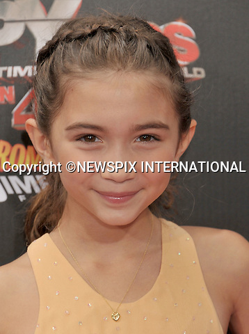 """ROWAN BLANCHARD.attends the World Premiere of """"Spy Kids: All The Time In The World"""" at the Regal Cinemas, L.A. Live, Los Angeles, California_31/07/2011.Mandatory Photo Credit: ©Crosby/Newspix International. .**ALL FEES PAYABLE TO: """"NEWSPIX INTERNATIONAL""""**..PHOTO CREDIT MANDATORY!!: NEWSPIX INTERNATIONAL(Failure to credit will incur a surcharge of 100% of reproduction fees).IMMEDIATE CONFIRMATION OF USAGE REQUIRED:.Newspix International, 31 Chinnery Hill, Bishop's Stortford, ENGLAND CM23 3PS.Tel:+441279 324672  ; Fax: +441279656877.Mobile:  0777568 1153.e-mail: info@newspixinternational.co.uk"""