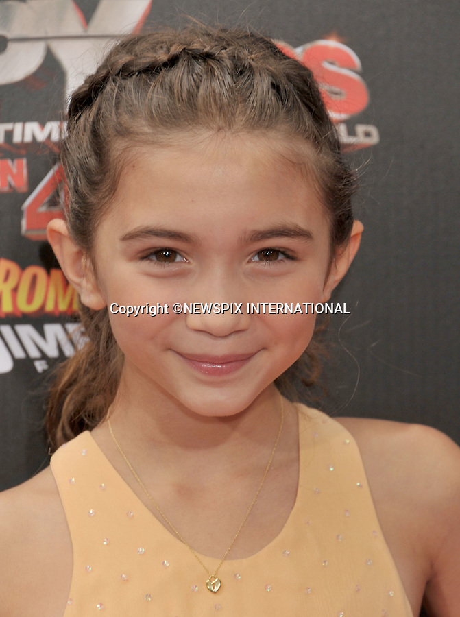 "ROWAN BLANCHARD.attends the World Premiere of ""Spy Kids: All The Time In The World"" at the Regal Cinemas, L.A. Live, Los Angeles, California_31/07/2011.Mandatory Photo Credit: ©Crosby/Newspix International. .**ALL FEES PAYABLE TO: ""NEWSPIX INTERNATIONAL""**..PHOTO CREDIT MANDATORY!!: NEWSPIX INTERNATIONAL(Failure to credit will incur a surcharge of 100% of reproduction fees).IMMEDIATE CONFIRMATION OF USAGE REQUIRED:.Newspix International, 31 Chinnery Hill, Bishop's Stortford, ENGLAND CM23 3PS.Tel:+441279 324672  ; Fax: +441279656877.Mobile:  0777568 1153.e-mail: info@newspixinternational.co.uk"