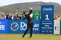 Adrien Saddier (FRA) on the 1st tee during Round 1 of the Dubai Duty Free Irish Open at Ballyliffin Golf Club, Donegal on Thursday 5th July 2018.<br /> Picture:  Thos Caffrey / Golffile
