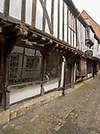 Joan Presley hats shop, fifteenth century architecture, St John's Alley, Devizes, Wiltshire, England, UK