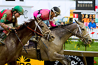 BALTIMORE, MD - MAY 19:  Actress, #10 with Nik Juarez wins the Black-eyed Susan Stake on Black-Eyed Susan Day at Pimlico Race Course on May 19, 2017 in Baltimore, Maryland.(Photo by Sue Kawczynski/Eclipse Sportswire/Getty Images)