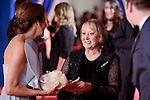 Ana Belen talking with Yvonne Blake attends to the Red Carpet of the Goya Awards 2017 at Madrid Marriott Auditorium Hotel in Madrid, Spain. February 04, 2017. (ALTERPHOTOS/BorjaB.Hojas)