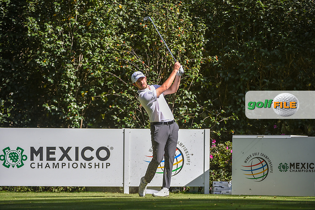 Patrick Cantlay (USA) watches his tee shot on 3 during round 1 of the World Golf Championships, Mexico, Club De Golf Chapultepec, Mexico City, Mexico. 2/21/2019.<br /> Picture: Golffile | Ken Murray<br /> <br /> <br /> All photo usage must carry mandatory copyright credit (© Golffile | Ken Murray)