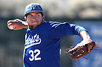 Wildcats pitcher Ty Fox throws against Colorado Northwestern Community College during a game at Western Nevada College, in Carson City, Nev., on Friday, March 13, 2015. <br /> Photo by Cathleen Allison/Nevada Photo Source