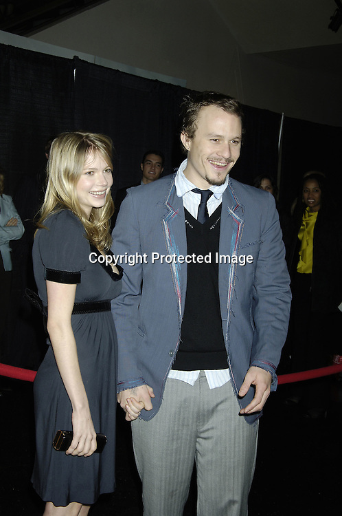 "Michelle Williams and Heath Ledger ..at a Special Screening of "" Casanova"" on December 11, 2005 at The Loews Lincoln Square Theatre. ..Photo by Robin Platzer, Twin Images"