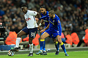 7th January 2018, Wembley Stadium, London, England;  FA Cup football, 3rd round, Tottenham Hotspur versus AFC Wimbledon; Victor Wanyama under pressure from George Francomb of AFC Wimbledon