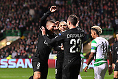 12th September 2017, Glasgow, Scotland; Champions League football, Glasgow Celtic versus Paris Saint Germain;  Layvin Kurzawa (psg)  Marco Verratti (psg)