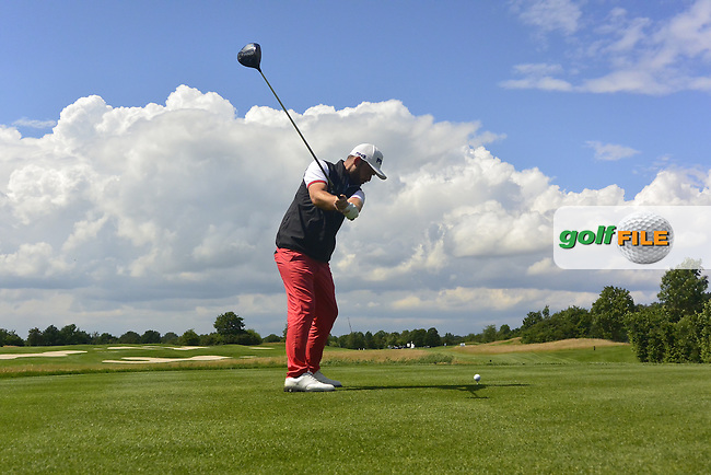 Andy Sullivan (ENG) on the 14th tee during Round 4 of the 2016 BMW International Open at the Golf Club Gut Laerchenhof in Pulheim, Germany on Sunday 26/06/16.<br /> Picture: Thos Caffrey | Golffile