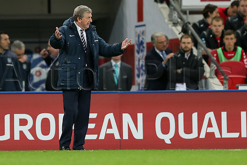 27.03.2015, Wembley Stadium, London England. EURO 2016 qualification match. England versus Lithuania.  Manager Roy Hodgson (ENG),