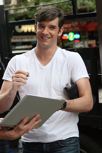 WWW.ACEPIXS.COM . . . . .  ....September 3 2009, New York City....Actor Michael Urie on the midtown Manhattan set of the TV show 'Ugly Betty' on September 3 2009 in New York City....Please byline: NANCY RIVERA- ACE PICTURES.... *** ***..Ace Pictures, Inc:  ..tel: (212) 243 8787 or (646) 769 0430..e-mail: info@acepixs.com..web: http://www.acepixs.com