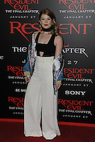 www.acepixs.com<br /> <br /> January 23 2017, LA<br /> <br /> Jody Steel arriving at the premiere of 'Resident Evil: The Final Chapter' at the Regal LA Live on January 23, 2017 in Los Angeles, California.<br /> <br /> By Line: Peter West/ACE Pictures<br /> <br /> <br /> ACE Pictures Inc<br /> Tel: 6467670430<br /> Email: info@acepixs.com<br /> www.acepixs.com