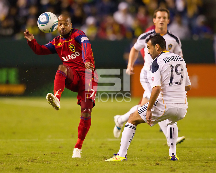 CARSON, CA - November 6, 2011: Real Salt Lake midfielder Andy Williams (77) during the match between LA Galaxy and Real Salt Lake at the Home Depot Center in Carson, California. Final score LA Galaxy 3, Real Salt Lake 1.