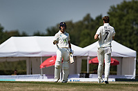 Joe Weatherley of Hampshire clenches his fist and celebrates hauling his team over the line during Middlesex CCC vs Hampshire CCC, Bob Willis Trophy Cricket at Radlett Cricket Club on 11th August 2020