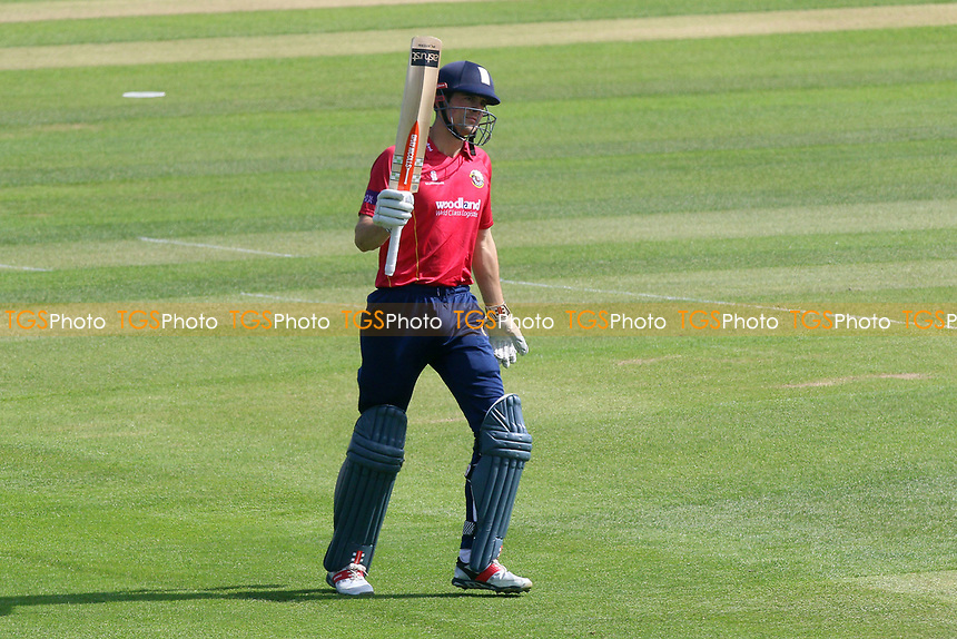Alastair Cook of Essex celebrates scoring a half-century, 50 runs during Essex Eagles vs Sussex Sharks, Royal London One-Day Cup Cricket at The Cloudfm County Ground on 10th May 2017