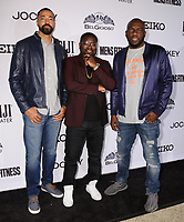 28 September  2017 - Beverly Hills, California - Timon Kyle Durrett, Lil Rey Howery, Omar Dorsey. 2017 Men's Fitness Game Changers held at Club James of the Goldstein Private Residence in Beverly Hills. Photo Credit: Birdie Thompson/AdMedia