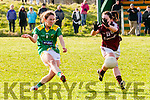 Denise Hallissey (Kerry) in action with Lisa Gannon (Galway)in the Lidi Ladies National Football League Division 1 on Sunday at Finuge. GAA Grounds.