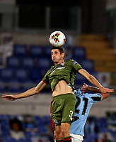 Football, Serie A: S.S. Lazio - Cagliari, Olympic stadium, Rome, July 23, 2020. <br /> Cagliari's Federico Mattiello (l) in action with Lazio's Sergej Milinkpvic-Savic (r) during the Italian Serie A football match between Lazio and Cagliari at Rome's Olympic stadium, Rome, on July 23, 2020. <br /> UPDATE IMAGES PRESS/Isabella Bonotto