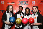 Mike Faist, Michael Luwoye, Kristolyn Lloyd and Alex Brightman attends the Second Stage Theatre 2018 Bowling Classic at Lucky Strike  on February 12, 2018 in New York City.