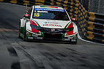 Tiago Monteiro races the FIA WTCC during the 61st Macau Grand Prix on November 14, 2014 at Macau street circuit in Macau, China. Photo by Aitor Alcalde / Power Sport Images