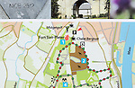 Map of tourist activities in Fort Sint Pieter area, Maastricht, Limburg province, Netherlands,