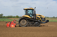 Working land down before planting potatoes<br /> &copy;Tim Scrivener Photographer 07850 303986<br /> ....Covering Agriculture In The UK....