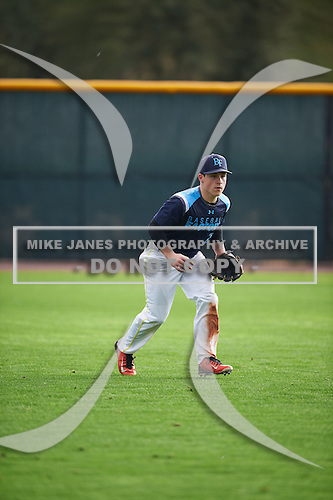 Justin Scotto (2) of Monmouth Regional High School in Tinton Falls, New Jersey during the Under Armour All-American Pre-Season Tournament presented by Baseball Factory on January 14, 2017 at Sloan Park in Mesa, Arizona.  (Mike Janes/Mike Janes Photography)