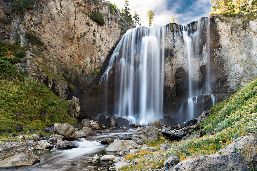 Dunanda Falls is one of many waterfalls in Yellowstone National Park's Cascade Corner.