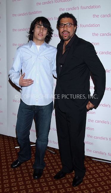 "WWW.ACEPIXS.COM . . . . . ....NEW YORK, MAY 9, 2006....Teddy Geiger and Lionel Richie at the Candie's Foundation Presents the 3rd Annual ""Event to Prevent"" Gala......Please byline: KRISTIN CALLAHAN - ACEPIXS.COM.. . . . . . ..Ace Pictures, Inc:  ..(212) 243-8787 or (646) 679 0430..e-mail: picturedesk@acepixs.com..web: http://www.acepixs.com"