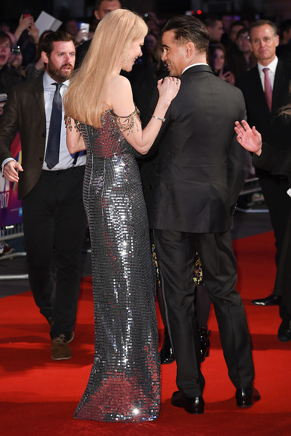 """Colin Farrell and Nicole Kidman<br /> arriving for the London Film Festival 2017 screening of """"Killing of a Sacred Deer"""" at Odeon Leicester Square, London<br /> <br /> <br /> ©Ash Knotek  D3332  12/10/2017"""