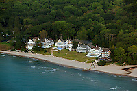aerial photograph Lake Michigan shoreline vacation homes South Haven, Michigan