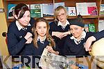 INFORMATION: Students from at St. Joseph's Secondary School in Abbeyfeale enjoying a talk from Bill Cullen on Friday last..L/r. Sara Forde (Templeglantine), Jessica Breen (Abbeyfeale), Jackie O'Rourke (Abbeyfeale) and Edel Collins (Abbeyfeale).   Copyright Kerry's Eye 2008