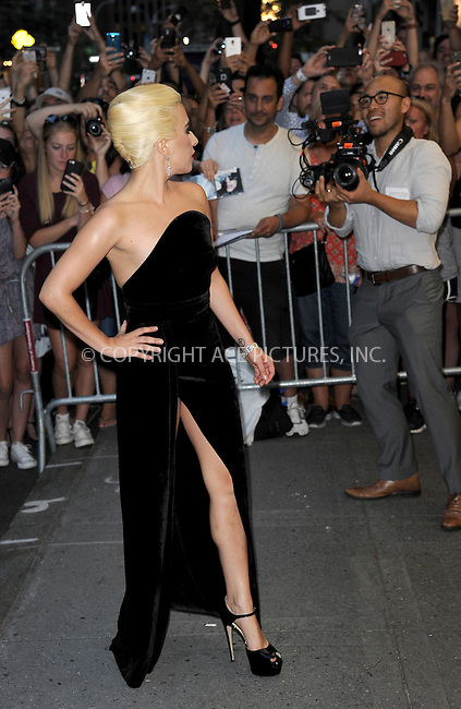 www.acepixs.com<br /> August 3, 2016  New York City<br /> <br /> Lady Gaga arriving for Tony Bennett's 90th birthday celebration at The Rainbow Room on August 3, 2016 in New York City.<br /> <br /> Credit: Kristin Callahan/ACE Pictures<br /> <br /> <br /> Tel: 646 769 0430<br /> Email: info@acepixs.com