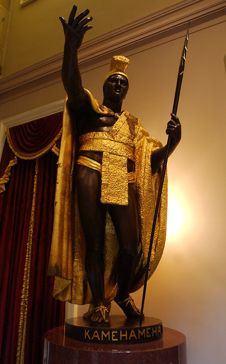 statue1/071803 - Statue of King Kamehameha from Hawaii, stands in Statuary Hall.