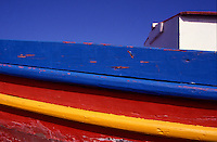 A Colorful Fishing Boat. Chania. Harbor. Western Crete. Greece.