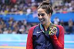 ) Maya Dirado (USA), <br /> AUGUST 12, 2016 - Swimming : <br /> Women's 200m Backstroke Medal Ceremony  <br /> at Olympic Aquatics Stadium <br /> during the Rio 2016 Olympic Games in Rio de Janeiro, Brazil. <br /> (Photo by Yohei Osada/AFLO SPORT)