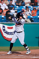 Visalia Rawhide first baseman Mark Karaviotis (24) during a California League game against the San Jose Giants on April 13, 2019 at San Jose Municipal Stadium in San Jose, California. Visalia defeated San Jose 4-2. (Zachary Lucy/Four Seam Images)