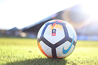 A general view of Rodney Parade and a Nike official match ball  prior to kick off of the Fly Emirates FA Cup Third Round match between Newport County and Leeds United at Rodney Parade, Newport, Wales, UK. Sunday 07 January 2018