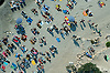 aerial view of Las Salinas, topless, Beach, Ibiza Spain