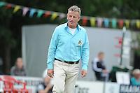 KAATSEN: HARLINGEN: 29-06-2014, Marten Feenstra, Pier Piersma, Martijn Olijnsma winnen, scheidsrechter, ©foto Martin de Jong