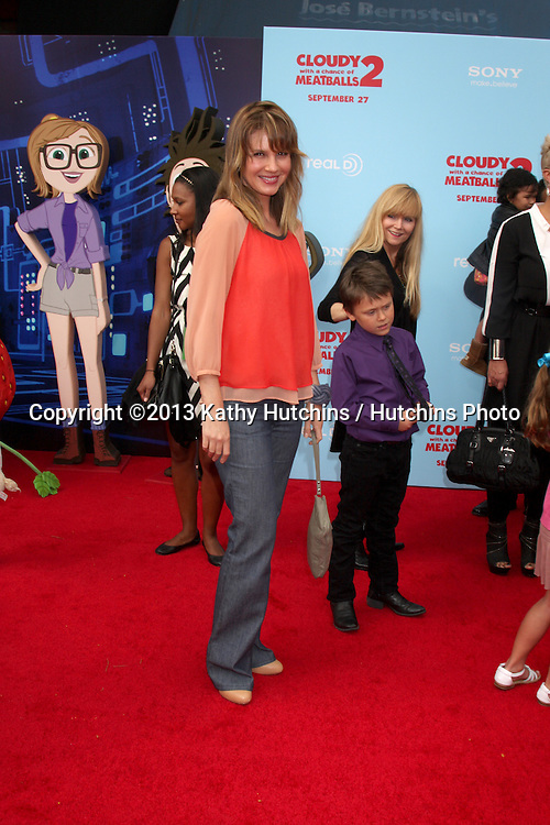 """LOS ANGELES - SEP 21:  Megan Ward at the """"Cloudy With A Chance of Meatballs 2"""" Los Angeles Premiere at Village Theater on September 21, 2013 in Westwood, CA"""