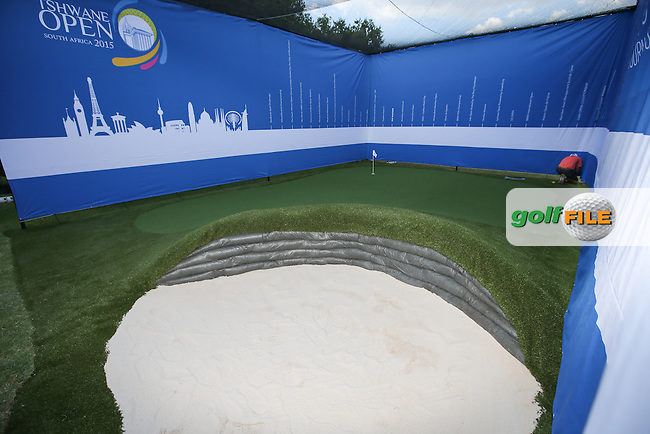 The play bunker is netted and enclosed during the preview of the Tshwane Open 2015 at the Pretoria Country Club, Waterkloof, Pretoria, South Africa. Picture:  David Lloyd / www.golffile.ie. 10/03/2015