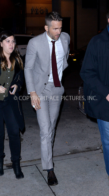 WWW.ACEPIXS.COM<br /> <br /> February 9 2016, New York City<br /> <br /> Actor Ryan Reynolds made an appearance at Watch What Happens Live on February 9 2016 in New York City<br /> <br /> By Line: Curtis Means/ACE Pictures<br /> <br /> <br /> ACE Pictures, Inc.<br /> tel: 646 769 0430<br /> Email: info@acepixs.com<br /> www.acepixs.com