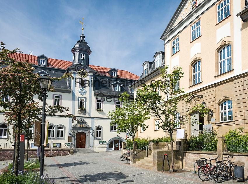 Germany, Thuringia, Ilmenau: Goethe-City-Museum and City Hall   Deutschland, Thueringen, Goethe- und Universitaetsstadt Ilmenau: Goethe-Stadt-Museum und Rathaus