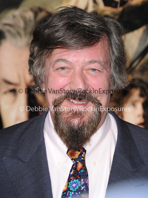 LOS ANGELES, CA - December 02: Stephen Fry arrives at The Warner Bros' Pictures L.A. Premiere of THE HOBBIT: THE DESOLATION OF SMAUG held at The Dolby Theater in Hollywood, California on December 02,2013                                                                               © 2013 Hollywood Press Agency