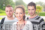 ENGLISH: Ready to sit English Paper One of the Leaving Cert on Wednesday at Brookfield College were l-r: Ian Donegan, Denise Horgan and Robbie Hurley.   Copyright Kerry's Eye 2008