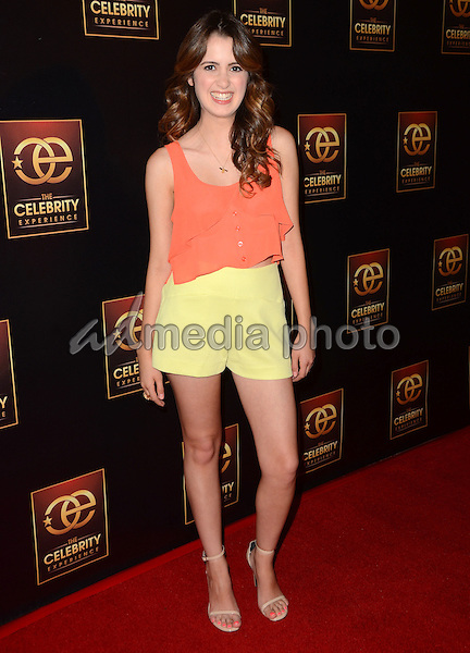 "12 July 2015 - Universal City, California - Laura Marano. Arrivals for ""The Celebrity Experience"" Q&A panel held at The DGA Theater. Photo Credit: Birdie Thompson/AdMedia"