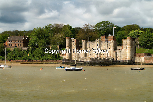Upnor Castle Kent  from across the river Medway from Chatham UK