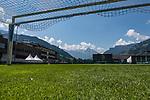 04.07.2019, Parkstadion, Zell am Ziller, AUT, TL Werder Bremen Zell am Ziller / Zillertal Tag 00<br /> <br /> im Bild<br /> weisses Zelt neben dem Trainingsplatz / Video-Analyse-Zelt, Feature, <br /> <br /> Foto © nordphoto / Ewert