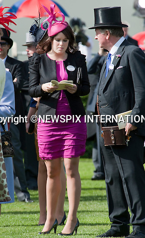"PRINCESS EUGENIE.Ladies Day of Royal Ascot 2010_17/06/2010..Mandatory Photo Credit: ©Dias/Newspix International..**ALL FEES PAYABLE TO: ""NEWSPIX INTERNATIONAL""**..PHOTO CREDIT MANDATORY!!: NEWSPIX INTERNATIONAL(Failure to credit will incur a surcharge of 100% of reproduction fees)..IMMEDIATE CONFIRMATION OF USAGE REQUIRED:.Newspix International, 31 Chinnery Hill, Bishop's Stortford, ENGLAND CM23 3PS.Tel:+441279 324672  ; Fax: +441279656877.Mobile:  0777568 1153.e-mail: info@newspixinternational.co.uk"